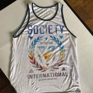 Society   Men's White Tank